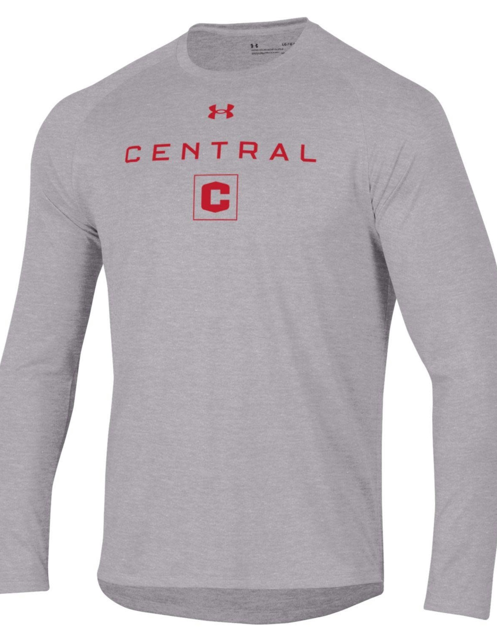 UA UA Tech Tee Central C Box LS Gray