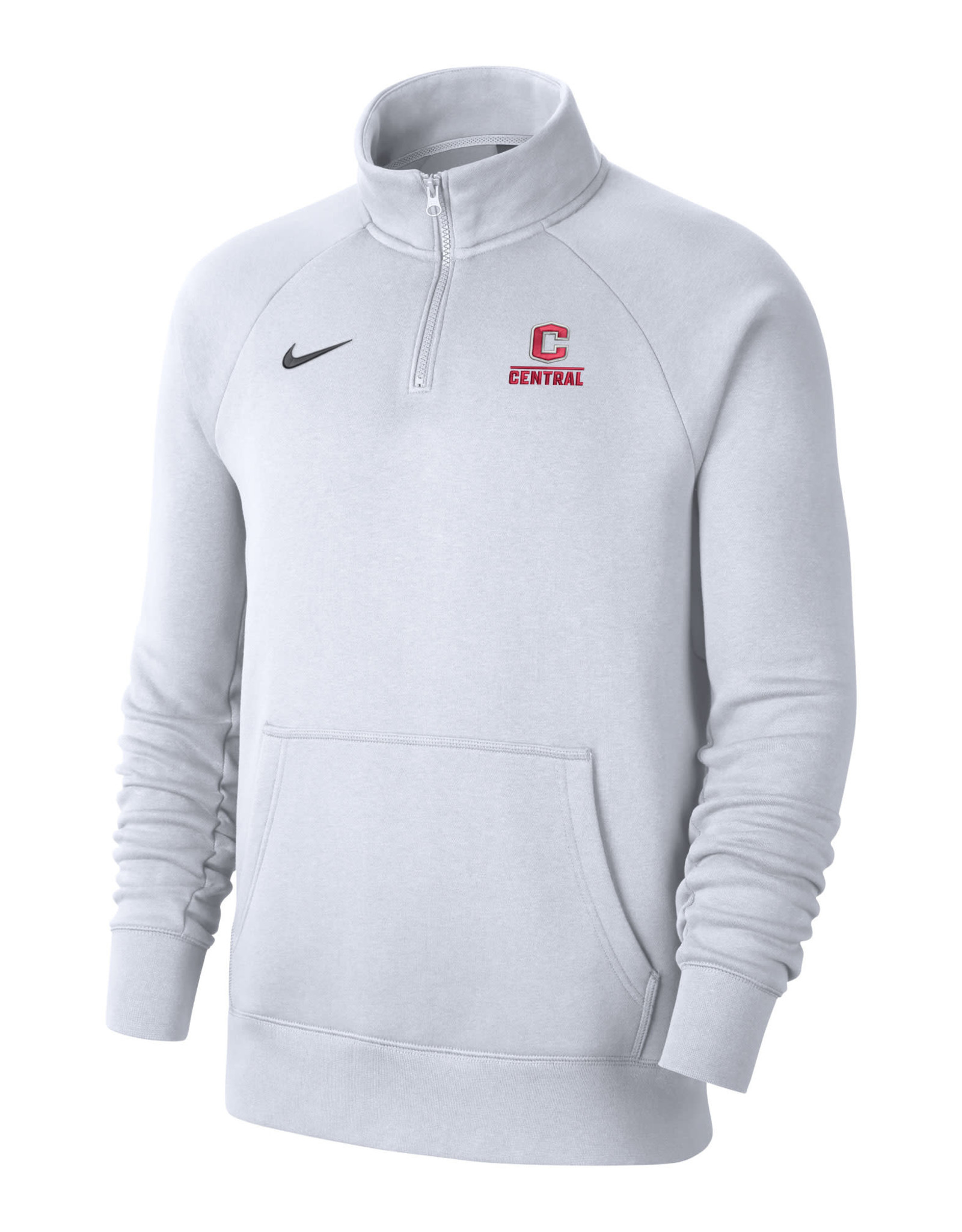 Nike Nike Club Fleece 1/4 Zip Heather White