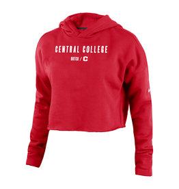 Nike Nike Campus Cropped Hoodie Red