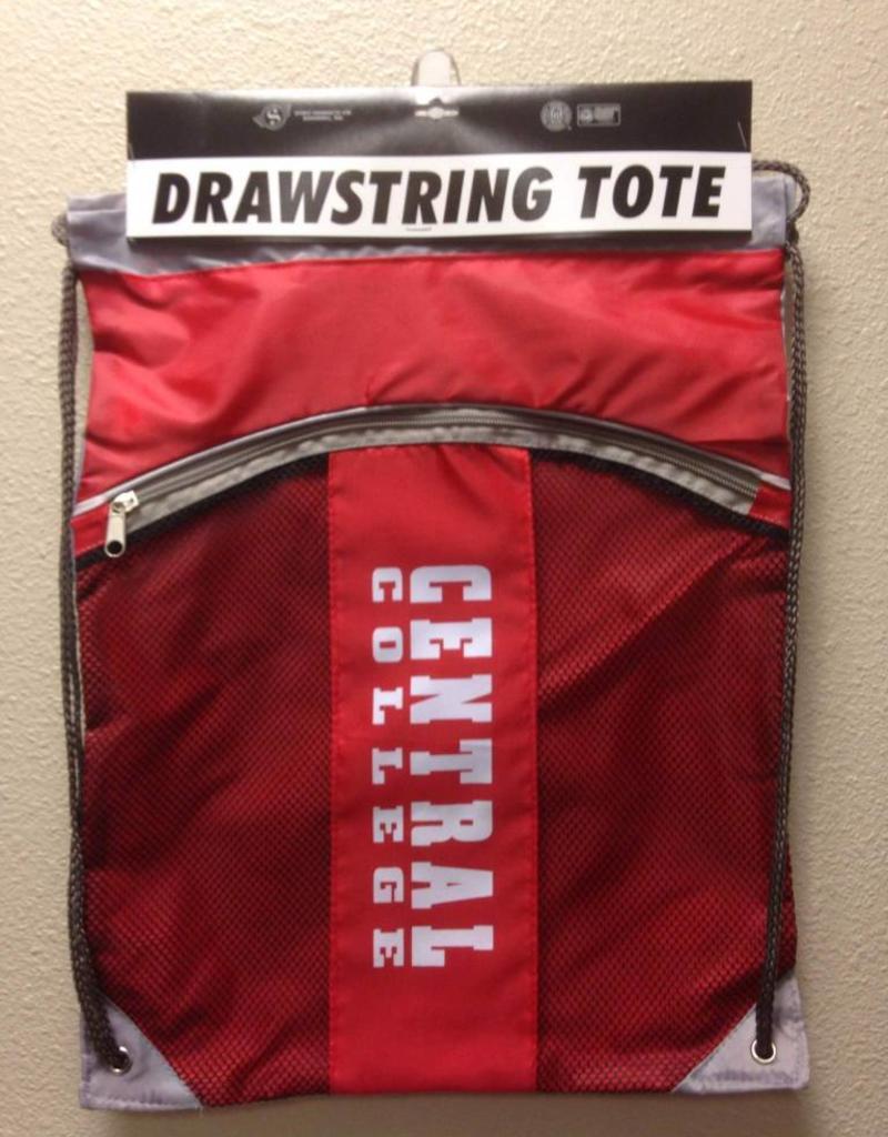 SPIRI Spirit Products Red/Mesh Drawstring Bag