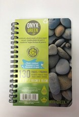 "ONXG Onyx Green 4""x6"" Stone Paper Notebook"