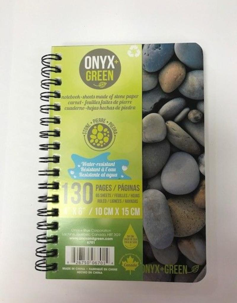 "ONXG Onyx Green 4""x6"" Stone Paper Notebook"
