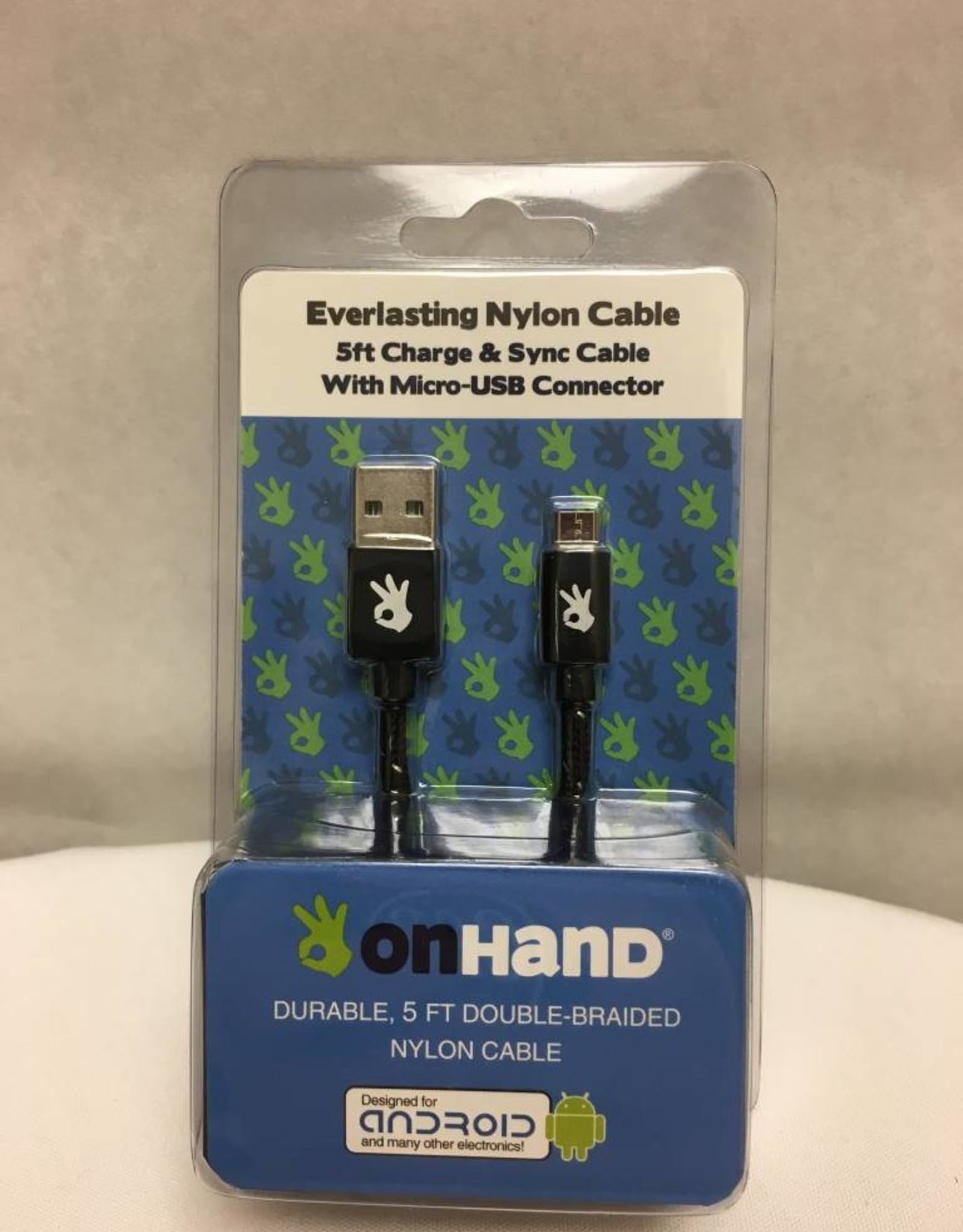 On Hand On Hand USB Cable Android Black
