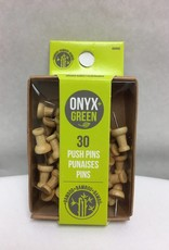 ONXG Onyx Green Push Pins