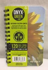 ONXG Onyx Green Notebook 3x5 Sugar Cane