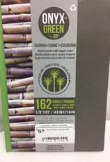 ONXG Onyx Green Journal 6x9 Hard Side Stone Paper