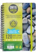 "ONXG Onyx Green 6""x9"" Stone Paper Notebook"