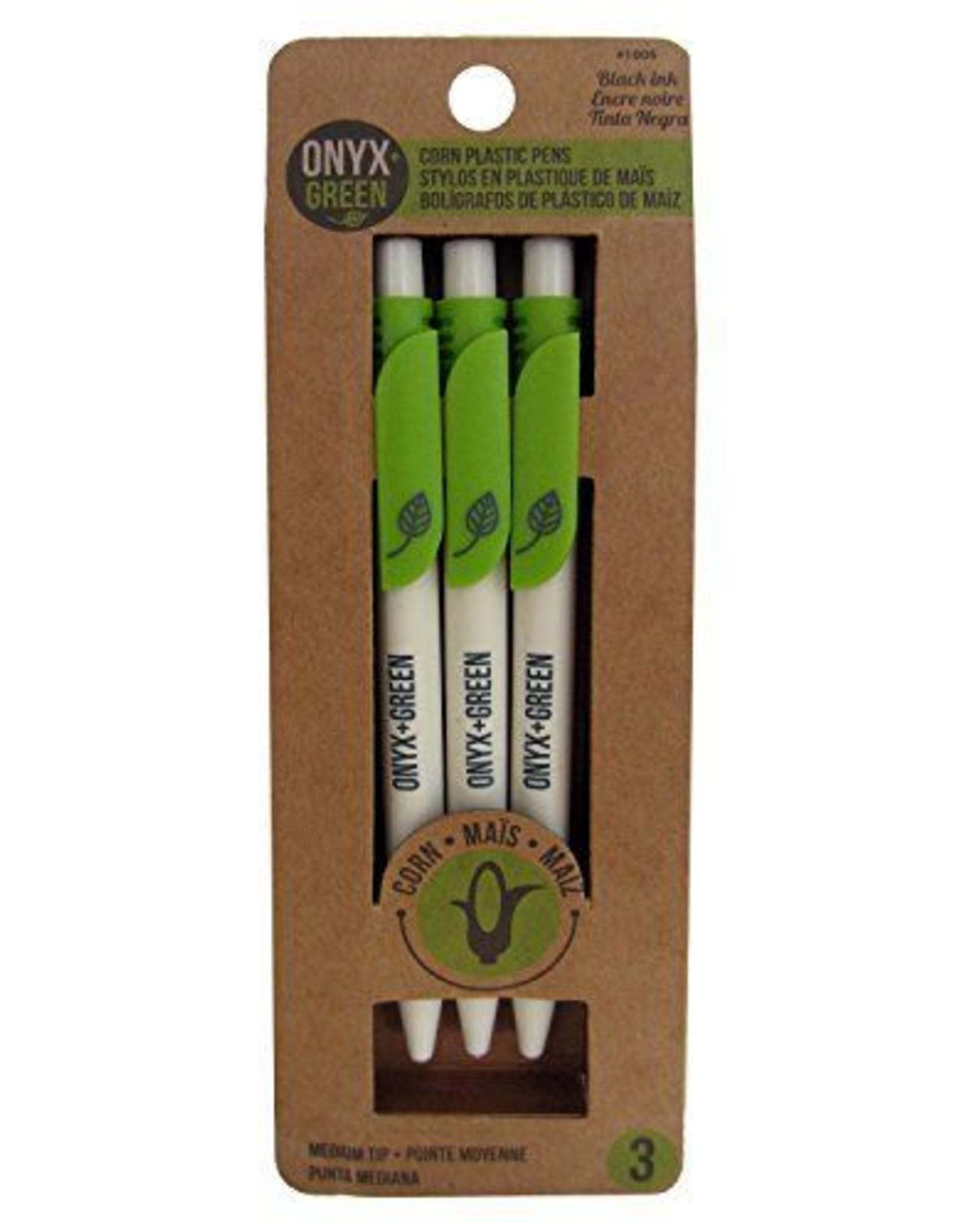 ONXG Onyx Green Pen Corn 3pk