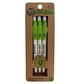 ONXG Onyx Green Corn Pen Set 3
