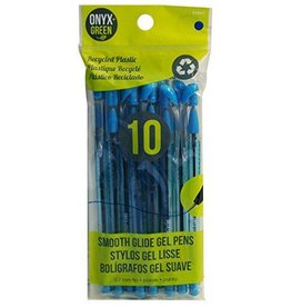 ONXG Onyx Green Pen Pk 10 Blue Gel