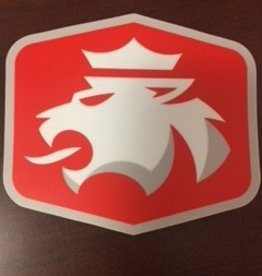 "Sticker Mule Sticker Mule Die Cut Sticker 4"" Red w/ Lion"