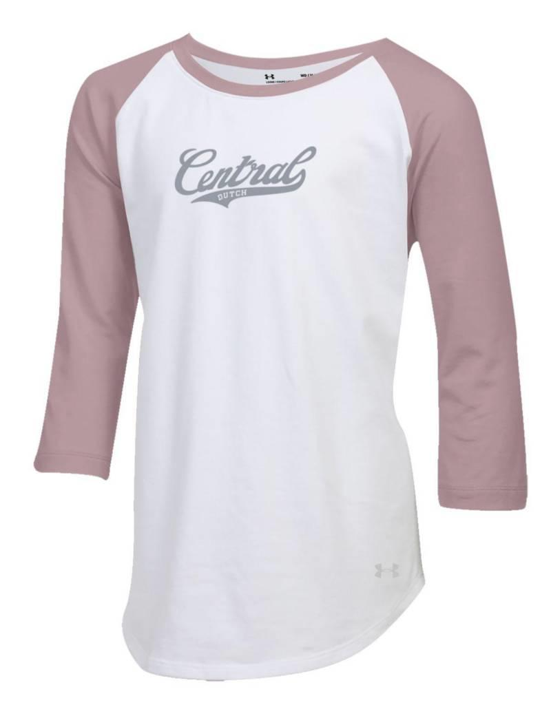 UA UA Girls baseball tee pink