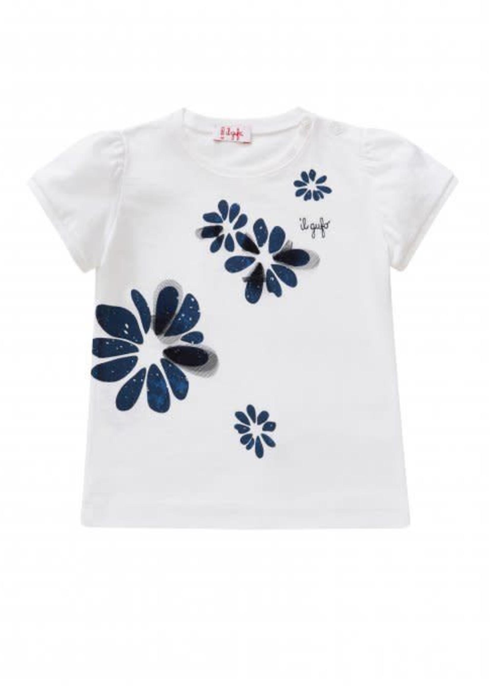 Il Gufo ilGufo Girl Flower T-Shirt