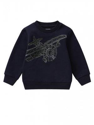 Il Gufo ilGufo Boy Airplane Sweatshirt