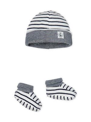 Petit Bateau Petit Bateau baby bonnet Set