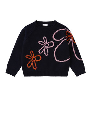 Il Gufo ilGufo Girl Flower Sweater