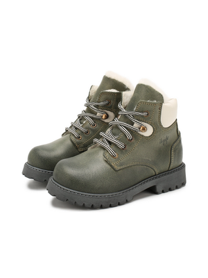 Il Gufo ilGufo Green Leather Boots
