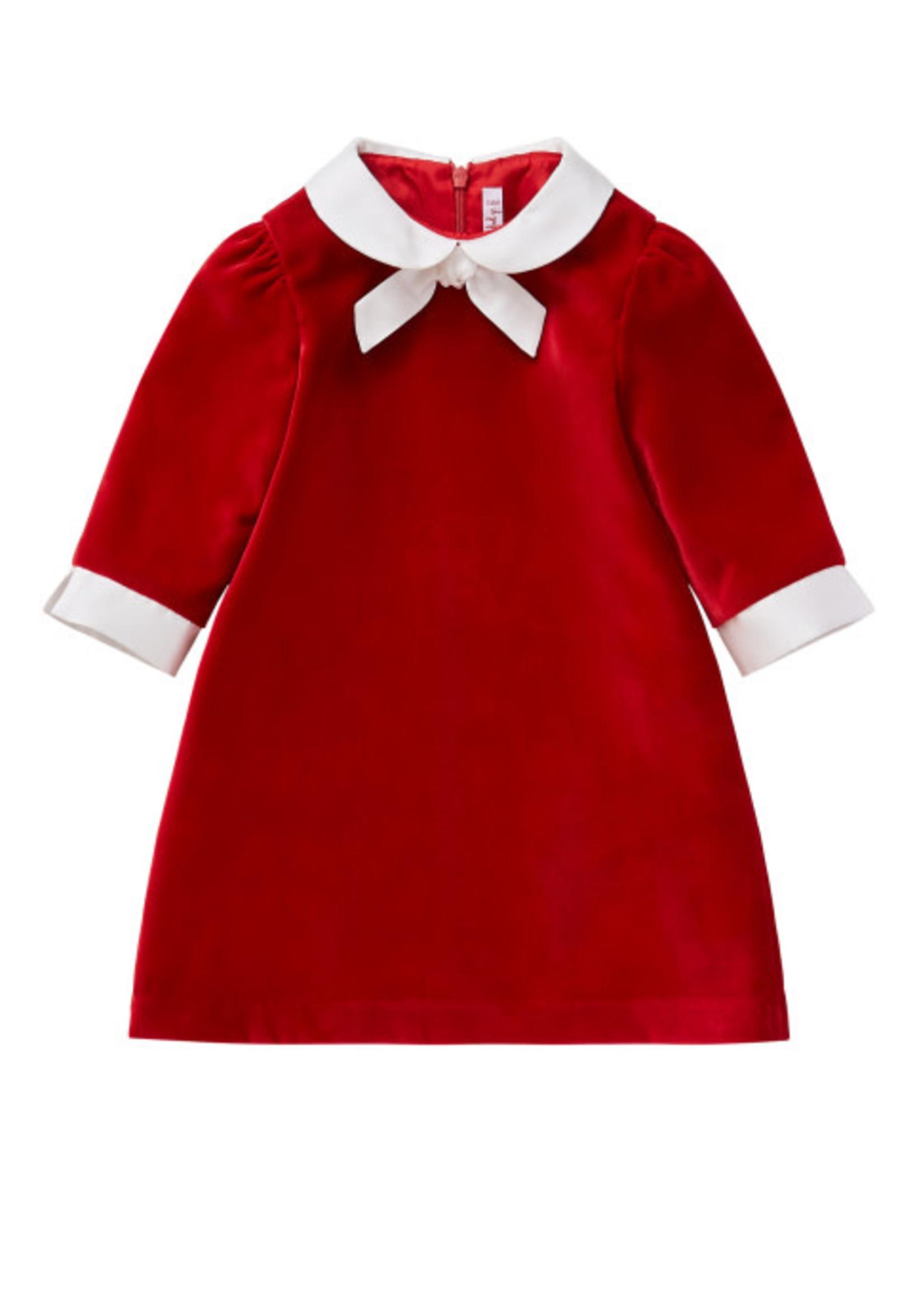 Il Gufo ilGufo Girl Velvet dress