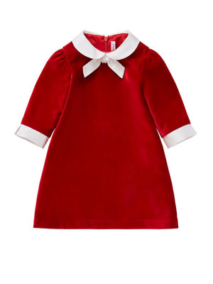 Il Gufo ilGufo Girl Velvet dress