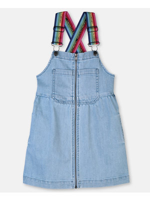 stella Mccartney Denim Jumper with Rainbow Logo Tape