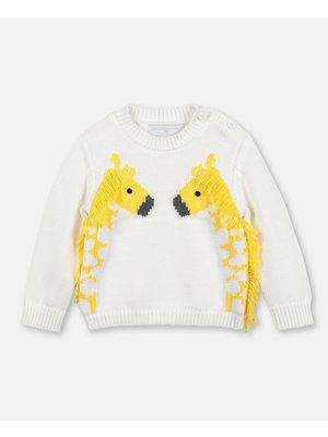 stella Mccartney Giraffe & Fringe Sweater