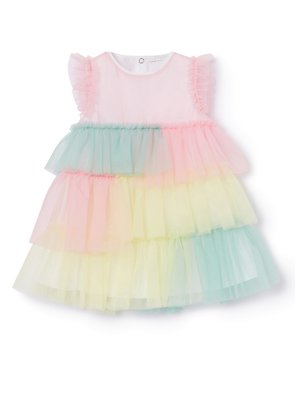 Il Gufo TULLE DRESS - RAINBOW