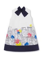 Il Gufo A-LINE DRESS WITH CITY PRINT