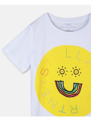 stella Mccartney Logo & Rainbow Cotton T-Shirt