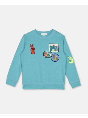 stella Mccartney Cotton Sweatshirt with Badges