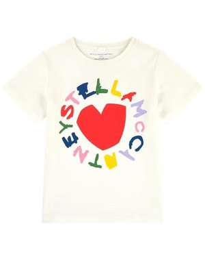 stella Mccartney GIRL SHORT SLEEVE HEART LOGO TEE
