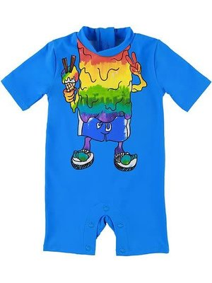 stella Mccartney RAINBOW MONSTER SWIMSUIT RASHGUARD