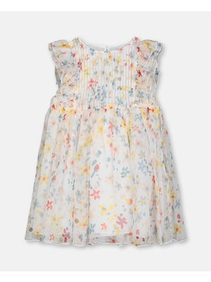 stella Mccartney Splash Flowers Silk Dress