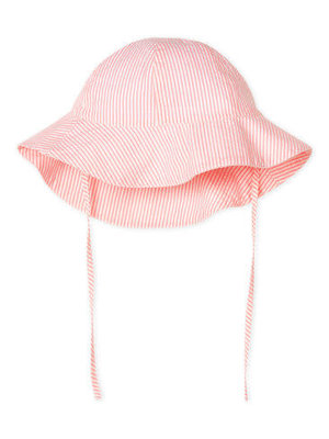 Petit Bateau Wide-brimmed seersucker hat for baby girls