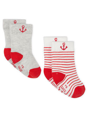 Petit Bateau Set of 2 pairs of socks for baby boys