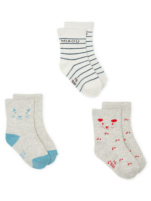Petit Bateau Set of 3 pairs of socks for baby boys