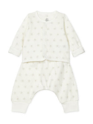 Petit Bateau Unisex Baby's Tube Knit Clothing - 2-Piece Set