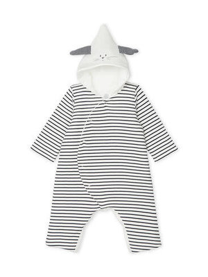Petit Bateau Unisex Baby Long Hooded Jumpsuit