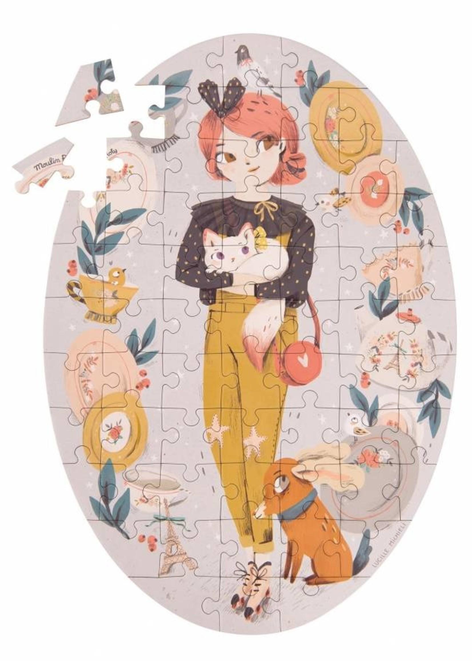 Mideer Mideer-ss21 . Parisiennes - Constance Puzzle (65 pcs)   Code: 642543