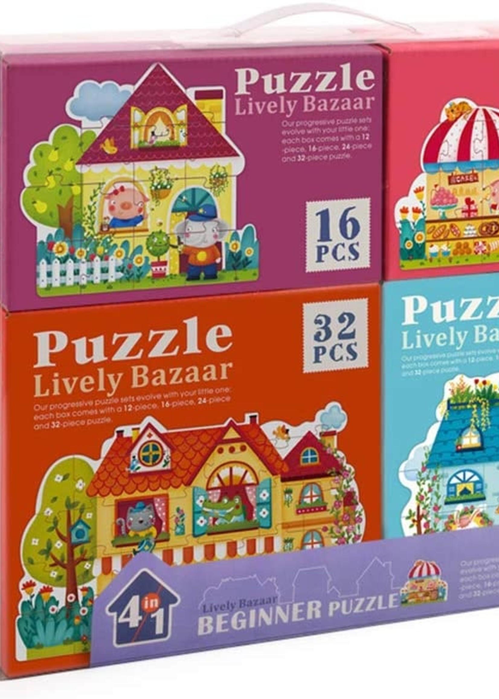 Mideer Mideer-AW20 MD3017 4 in 1 Puzzle - Fairy Town