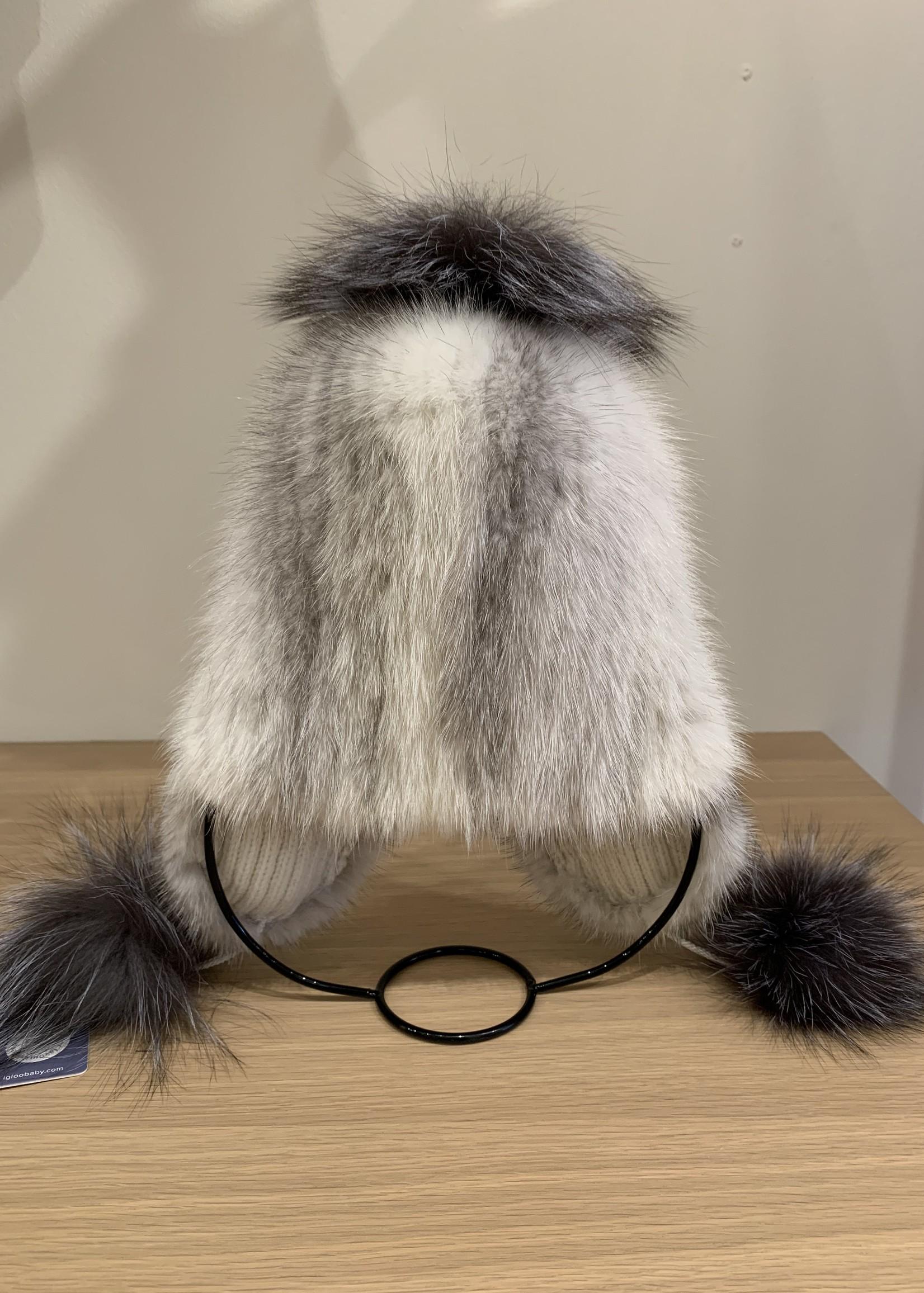 Igloo gary white fur hat