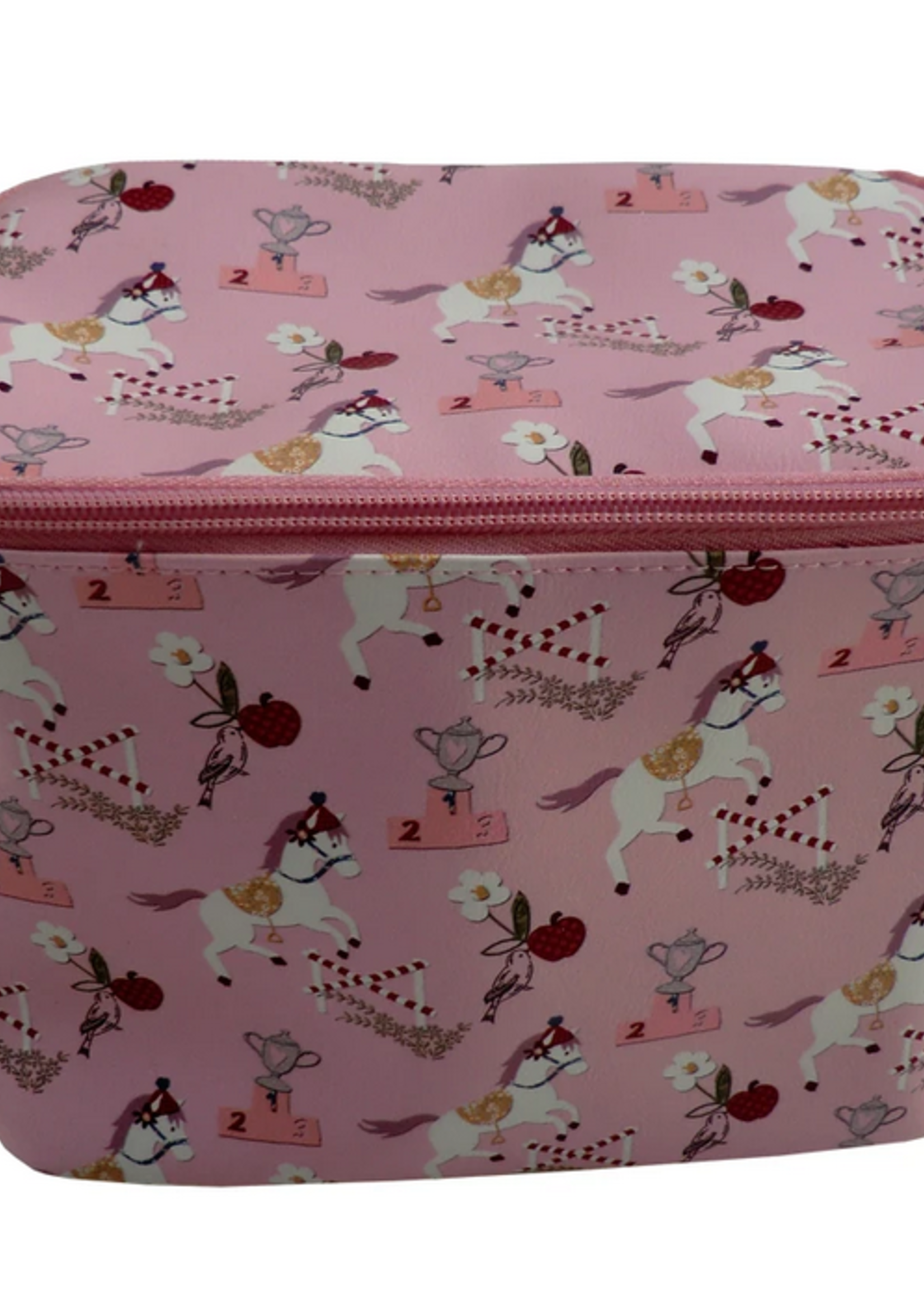 Powell Craft POWELL CRAFT-AW20 PINK PONY PRINT LUNCH BAG WITH FOIL LINING