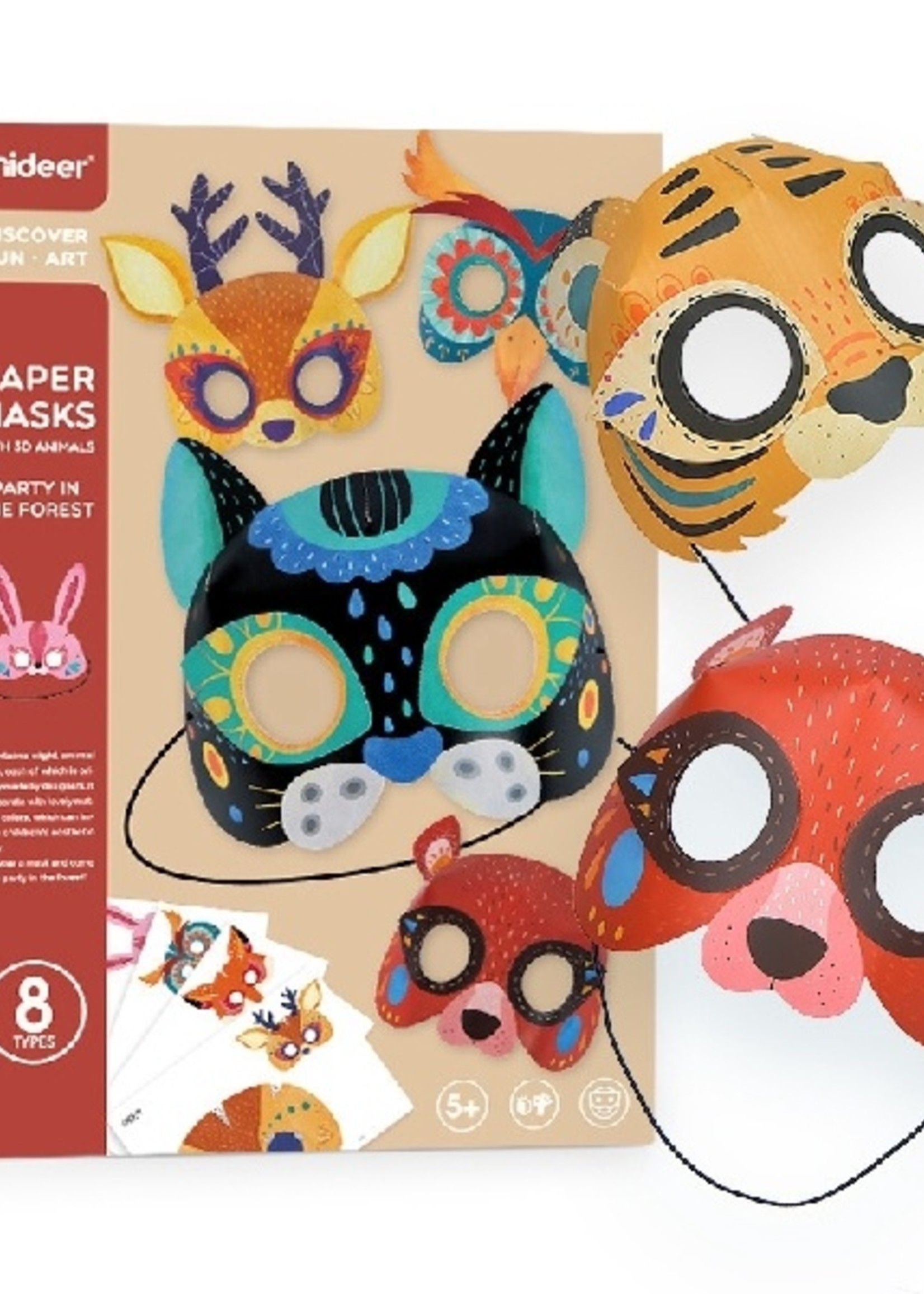 Mideer Mideer-AW20 MD4118 Paper Masks Party in The Forest