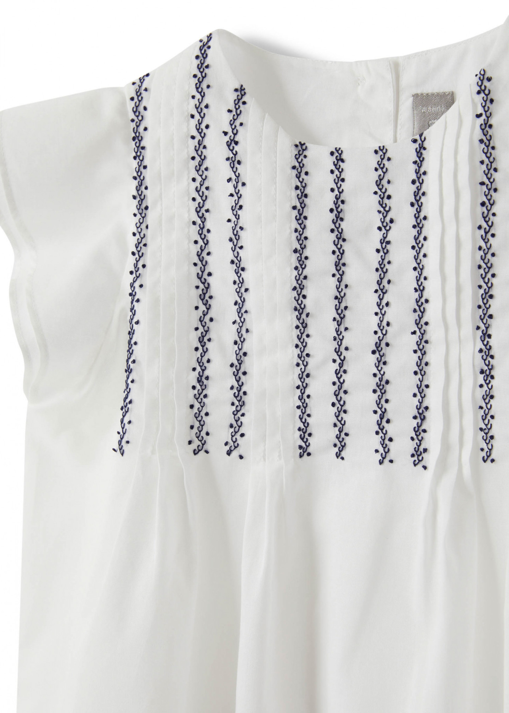 Il Gufo Il Gufo-ss21 SHIRT WITH HANDMADE EMBROIDERY AND RIBS