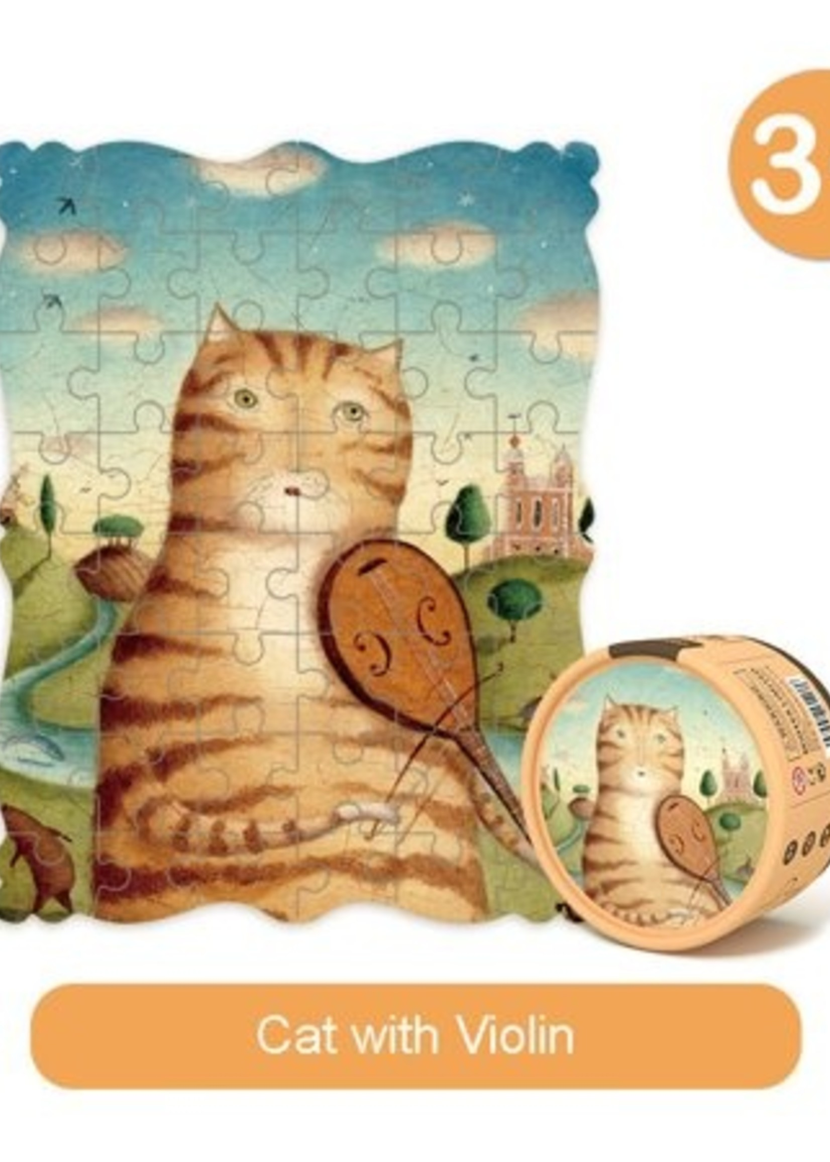 Mideer Mideer-AW20 MD3116 PORTRAITS PUZZLE-CAT AND FIDDLE