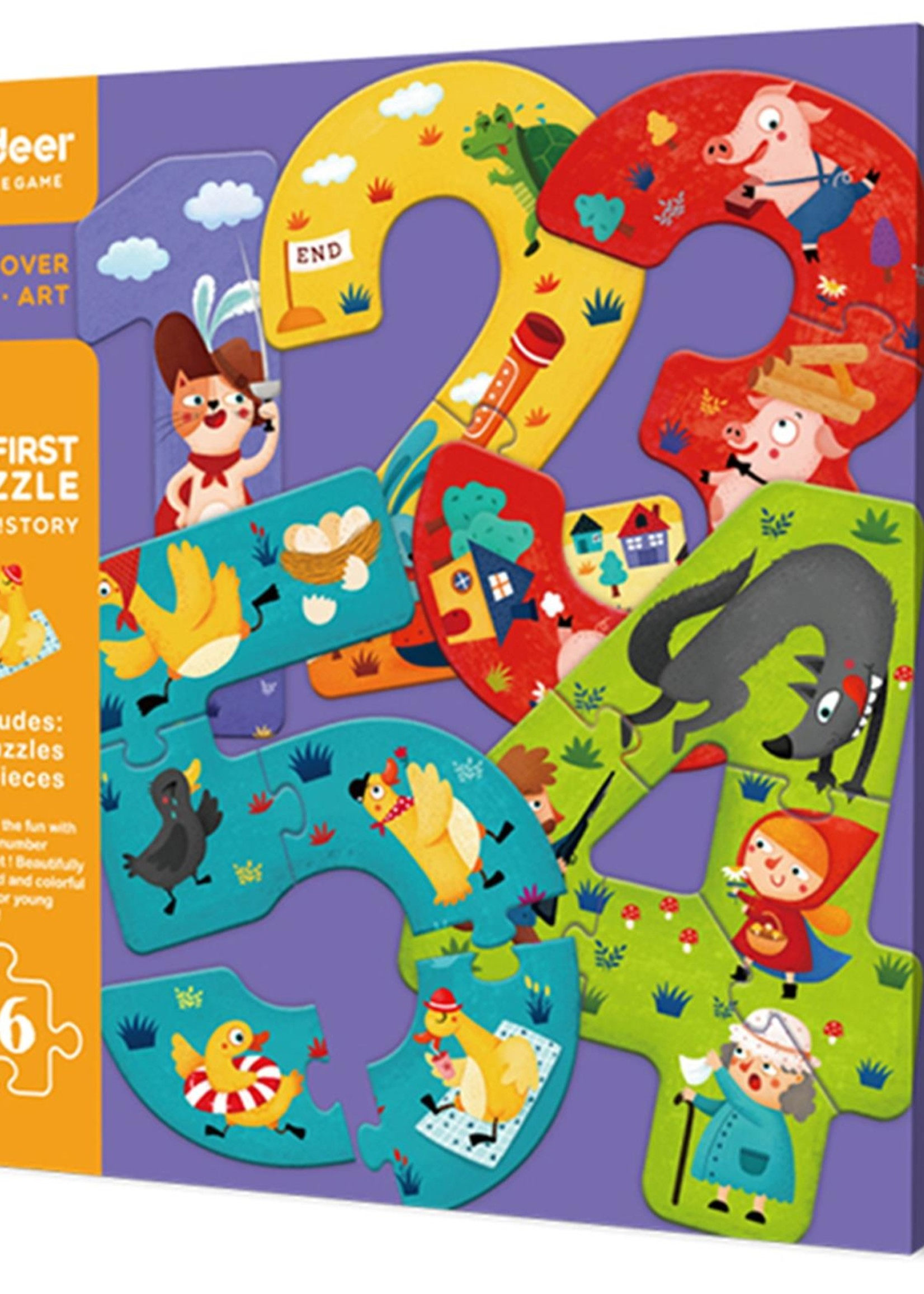 Mideer Mideer-AW20 MD3030 My First Puzzle - 12345 ! Story 16 pcs