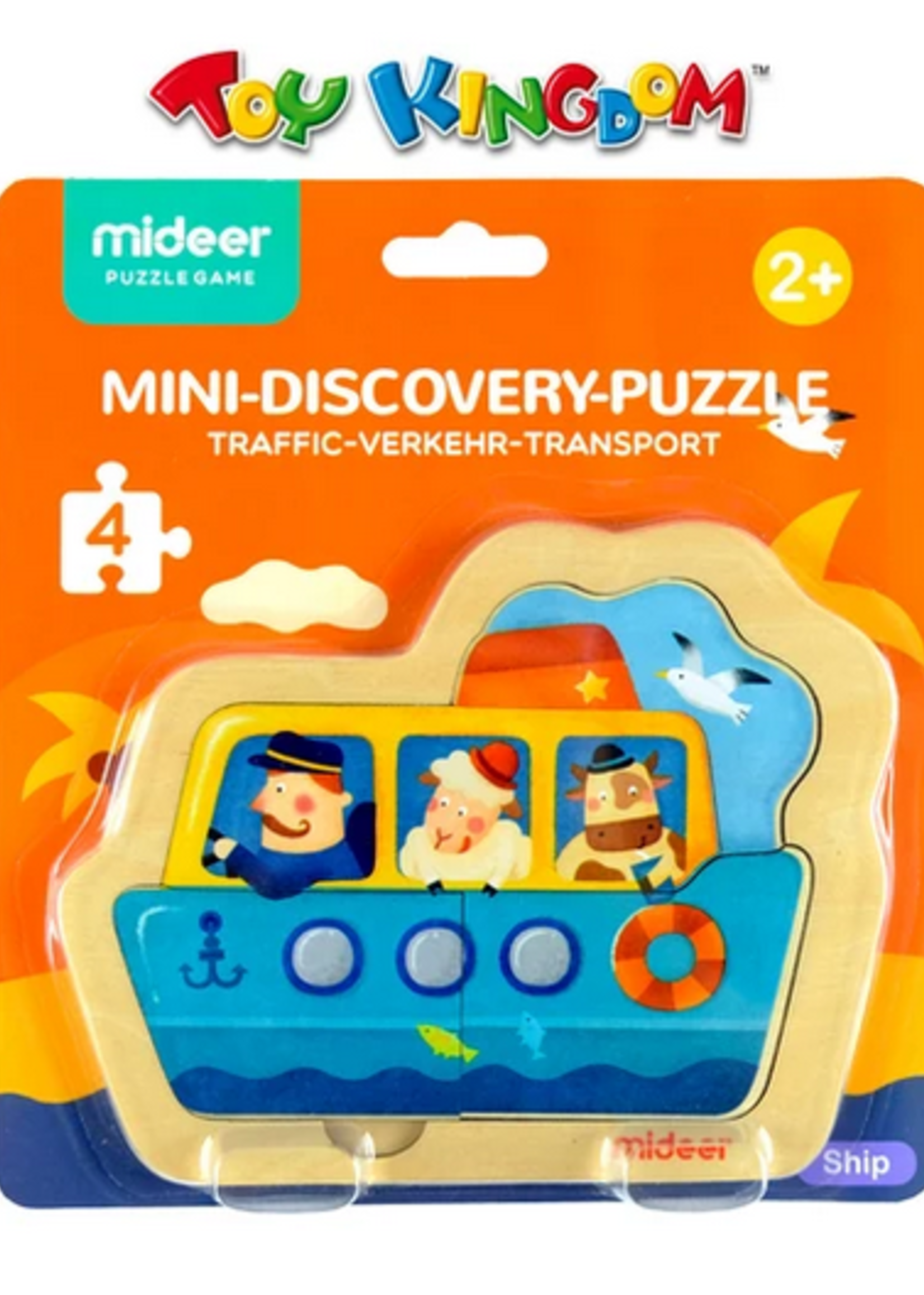 Mideer Mideer-AW20 MD3039 Mini Discovery Puzzle - Ship 4 pcs