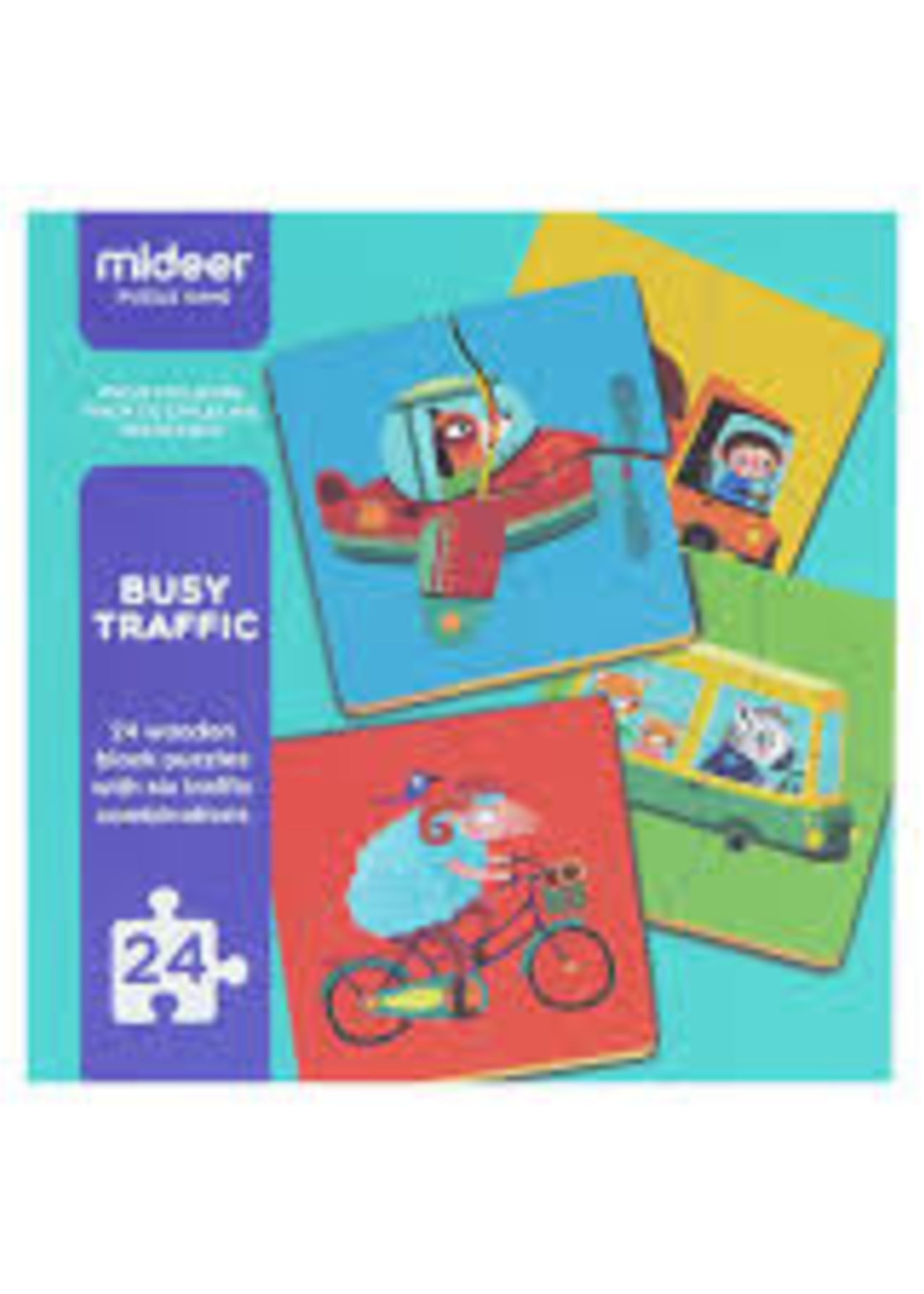 Mideer Mideer-AW20 MD3037 Busy Traffic 24 pcs