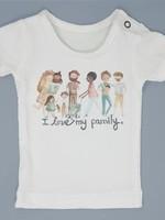 Milktology Milktology-ss21 I Love my Family T-shirt