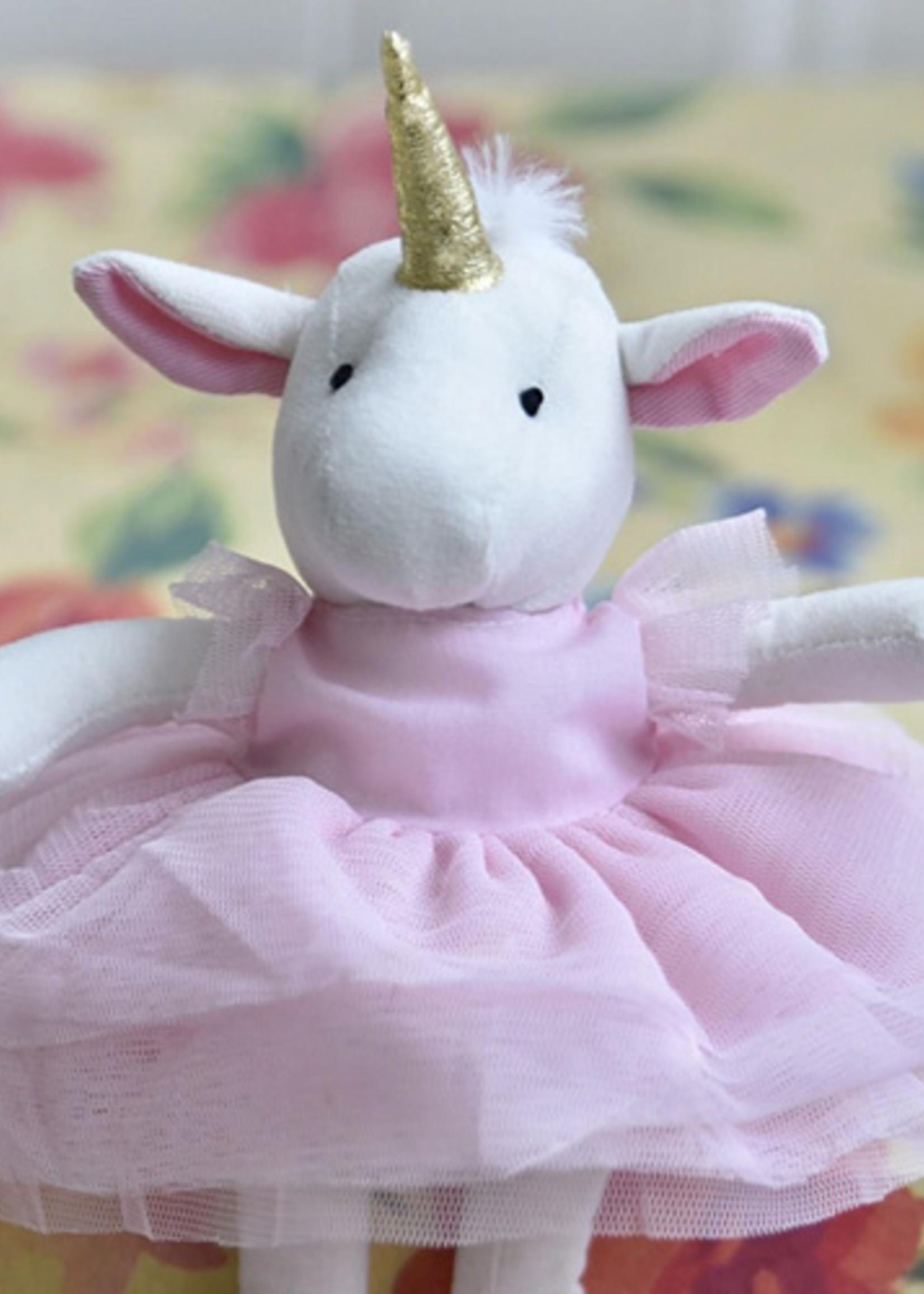 Powell Craft Powell Craft-ss21 Soft White Unicorn Teddy - 6 Pack (#T/UN)