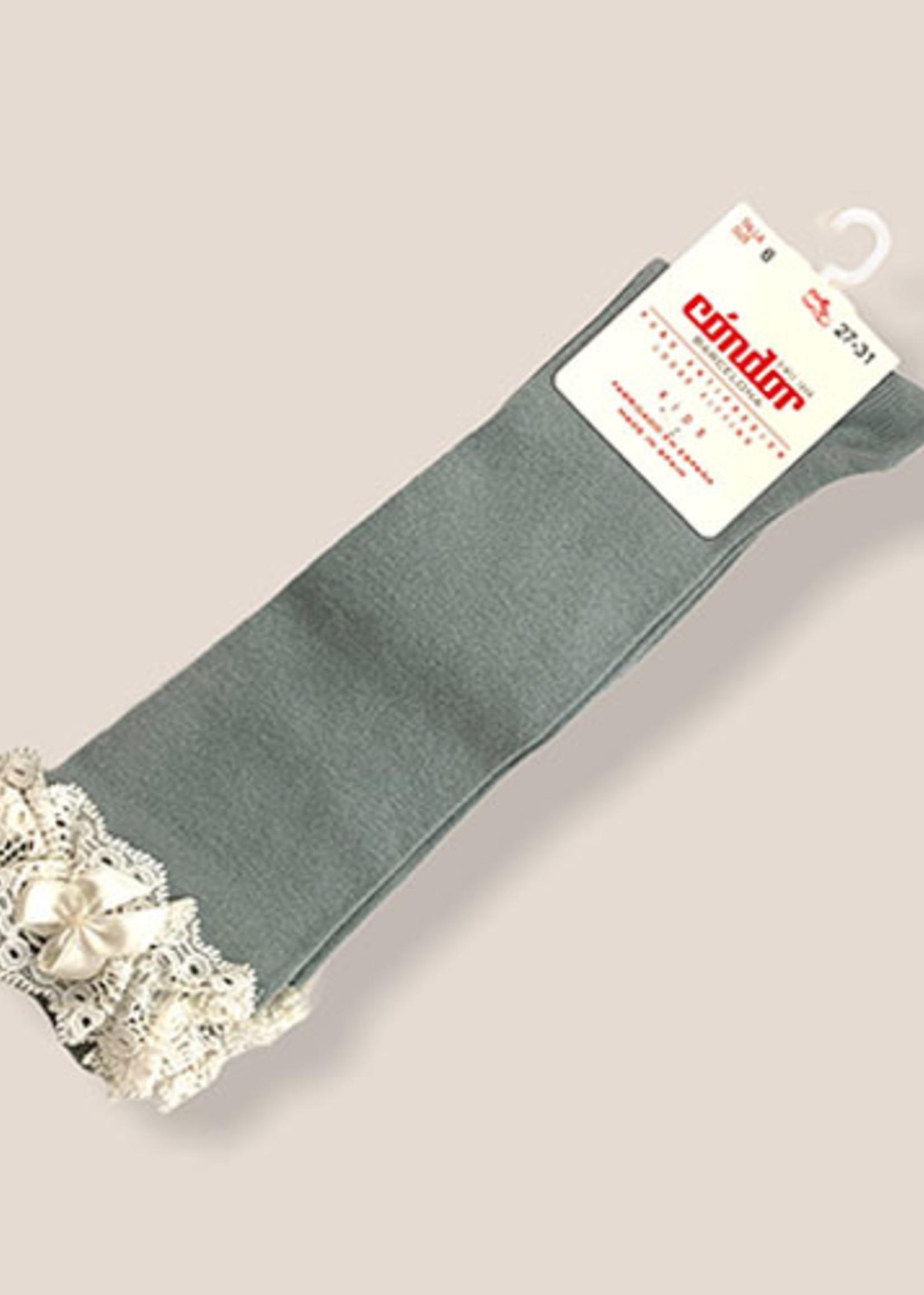 condor Condor-ss21 2.484/2 lace trim short sock